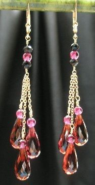 Starlite Jewelry Designs - Briolette Earrings by Naomi King, via Flickr