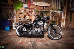 "Old School Umbau einer Harley Sportster......... "" The Bat "" 13.990€"