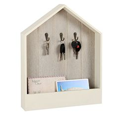Wall Mounted Mail Sorter with 3 Key Hooks, Rustic Wood Fl... https://smile.amazon.com/dp/B01J4QTRY0/ref=cm_sw_r_pi_dp_x_F-CcAb4Q8AT56