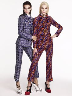 Vogue Australia    Issue: September 2012  Title: Smarty Pants  Models: Aline Weber and Magda Laguinge  Photography: Victor Demarchelier   Styling: Katie Mossman