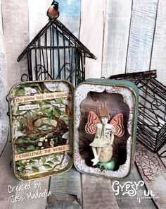 Gorgeous little altered tin with Tim Holtz Paper Doll atop an egg. Paper Doll Craft, Paper Toys, Paper Crafts, Altered Tins, Altered Art, Tim Holtz, Handmade Headbands, Handmade Crafts, Handmade Rugs