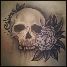 #sketchbook #skull #flower #tattoo #tattuering #skissar #Sketch #killtime #freehand #drawing #freeyourmind #PatrickJakobsson #portfilio #blogg.villja.se www.villha.se