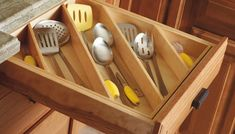 For Your Servingware Diagonal drawer storage is a way better use of space.