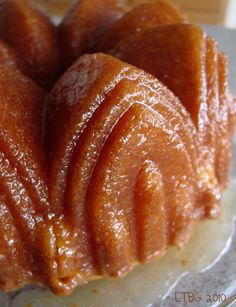 Lick The Bowl Good: Think Harder Rum Cake This is an easy and delicious cake. I make it the day before so it soaks in the rum and moistens the cake. Done just right it tastes like a rum glazed doughnut!