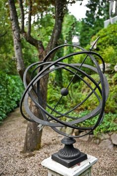 Armillary sphere sundials are ideal for classical gardens YARD