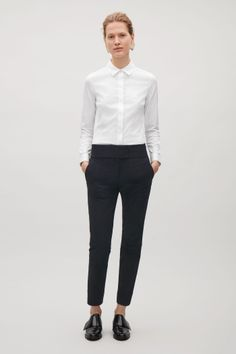 COS image 1 of Slim-fit shirt in White