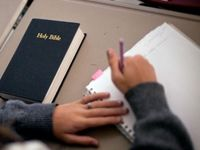 """Officials at Broward County Public Schools banned a fifth grader from reading the Bible during """"free reading"""" time, according to lawyers from the Liberty Institute who are threatening to sue the school for violating the First Amendment.  (Seems like silliness to me - it's free reading time)."""