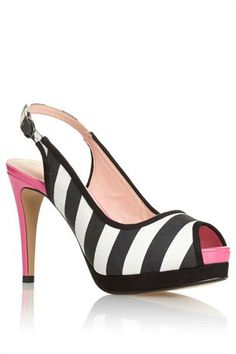 8bce4a4f5caea Buy Black And White Stripe Slingback Peep Toes from the Next UK online shop  professional sale ...