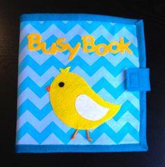 Children's Educational Quiet Book Busy Book 14 por QuietTimeDesigns, $128.00