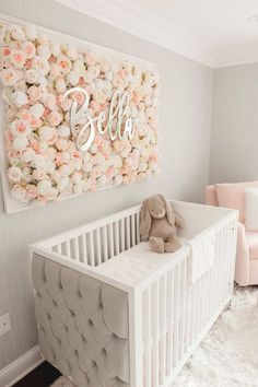 Girl Nursery Ideas - Bring your child girl home to a lovable and functional nursery. Right here are some infant girl nursery design ideas for all of your decoration, bedding, and furnishings . Baby Boy Nursery Room Ideas, Baby Room Boy, Baby Bedroom, Project Nursery, Baby Room Decor, Baby Rooms, Baby Room Ideas For Girls, Baby Girl Nursery Pink And Grey, Girls Flower Bedroom