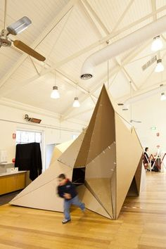 Card Play Space by first-semester students of the Department of Architecture at Monash University
