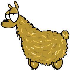 Funny Llama Cartoon