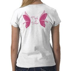 Maid of Honor T-shirt with fairy wings!  Great for bachelorette party or bridal shower!