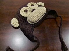 The Curious George hat I made for Leah came out so cute!