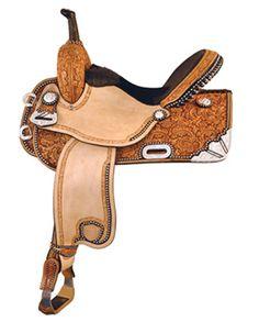 """TEX TAN® Silver Show Racer - 15"""" Seat :: Barrel :: Saddles :: Saddles & Tack :: Fort Western Online"""