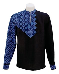 Eccentrical black embroidery with fully embroidered sleeve, interesting