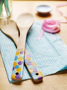 Gifts Kids Can Make: Paint patterns on store-bought spoons for a present that's both useful and sentimental.