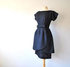 50's Vintage Raw Silk Wiggle Dress