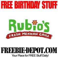 BIRTHDAY FREEBIE – Rubio's Fresh Mexican Grill - FREE BDay Meal