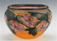 Multi Flora Art Glass Bowl by Charles Lotton