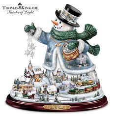 Shop great selection of rare Thomas Kinkade gifts and collectibles at The Bradford Exchange. We have Exclusive collection of art of Thomas Kinkade featuring on Limited Edition collectibles, Paintings, Home Decor and more. Christmas Snowman, Christmas Holidays, Christmas Clipart, Christmas Items, Christmas Wishes, Christmas Ornaments, Christmas Centerpieces, Christmas Decorations, Table Centerpieces