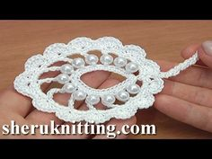 Beaded Irish Crochet Leaf Motif Tutorial 34 - YouTube