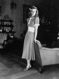 "Katharine Hepburn styled in a ""Girl Next Door"" look.  #styleicon  #modcloth"