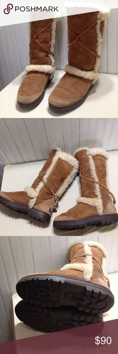 UGG nightfall chestnut color size 7 UGG nightfall chestnut color size 7, sheepskin upper, wool lining, synthetic sole, great condition UGG Shoes Winter & Rain Boots
