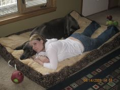 6 body pillows to make this great dane bed