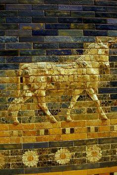 Detail of the Ishtar Gate, Babylon (now in Pergamon Museum, Berlin)