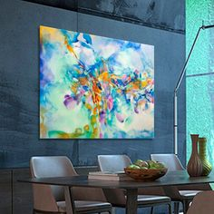 Dimensions: x 49 inches x 114 cm) Your Paintings, Original Paintings, Tree Paintings, Abstract Paintings, Orange Canvas Art, Turquoise Painting, Contemporary Wall Art, Blue Abstract, Large Art