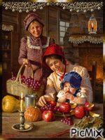 Bebê e frutas