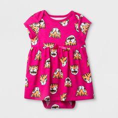 Baby Girls  Ruffle A-Line Dress - Cat  amp  Jack™ Pink   eadee0f74