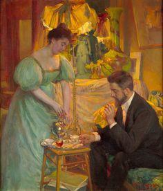 Tea Herman Richir - Thé (Les peintres Juliette et Rodolphe Wytsman) - c. 1896