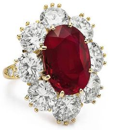 The Richard Burton Ruby and Diamond Ring, of 8.24 carats, by Van Cleef & Arpels.