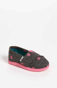 TOMS 'Classic - Dot' Slip-On (Baby, Walker & Toddler) available at #Nordstrom