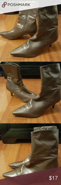 Antonio Melani 'Miranda' Brown Side Zip Boots Good Condition Worn With Love Scuffs On Bottom Size 9 ANTONIO MELANI Shoes Heeled Boots