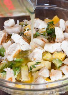 Mango Chicken Salad with quinoa #salad #recipes