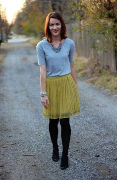 The Cream to My Coffee: Outfit of the Week - Green & Gray