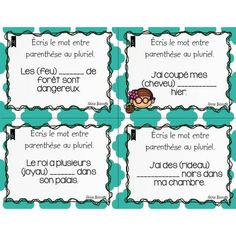 French Teaching Resources, Teaching French, First Year Teaching, French Grammar, Grammar And Vocabulary, Literacy Centers, Task Cards, Elementary Schools, Voici
