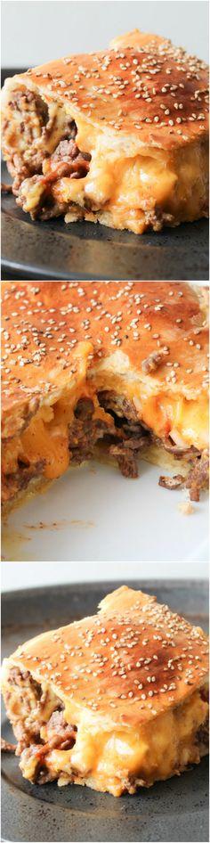 Giant cheeseburger - cheeseburger casserole