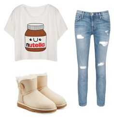 """Untitled #58"" by gymnastbug on Polyvore featuring UGG Australia and Current/Elliott"