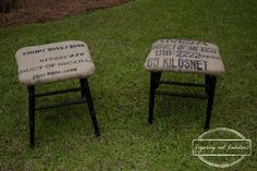 Make old chairs into stools or ottomans