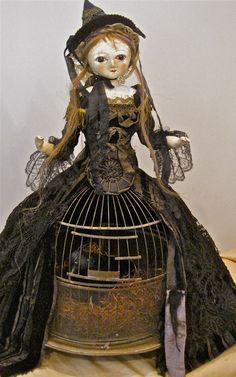 Birdcage Doll - Nicol Sayre Dolls  Nicol Sayre is my favorite doll maker