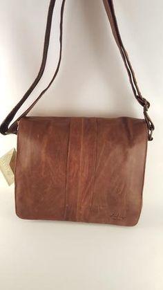 Aged Italian Leather Messenger Bag #3344