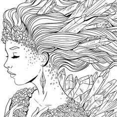 Adult Coloring Pages: Punk Girl 3 | Colouring | Pinterest | Adult ...