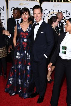 Golden Globes 2015: Fashion—Live from the Red Carpet – Vogue -  Sophie Hunter in Erdem and Neil Lane jewelry