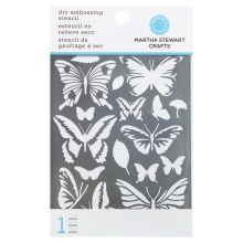 Martha Stewart Crafts Dry Embossing Stencil, Butterfly Package