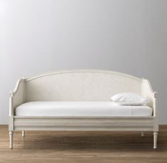 RH baby&child's Bellina Arched Panel Daybed:We took the best features of our favorite French designs from the late 18th century and combined them to create this beautifully balanced composition. Raised molding, rosette carvings and exquisite turned feet add a genteel air.