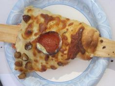 Never thought you could eat pizza on a stick?  At the Houston Rodeo you can!